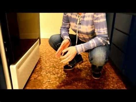 kitchen floor made out of pennies floor installation on kitchen and bathroom floor 9373