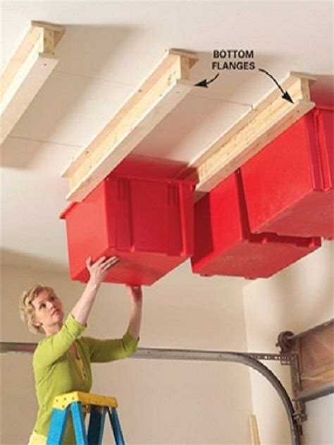 Ceiling Garage Storage Ideas by Small Garage On Small Garage Organization