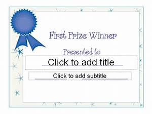 templates certificates first prize award certificate other With first prize certificate template