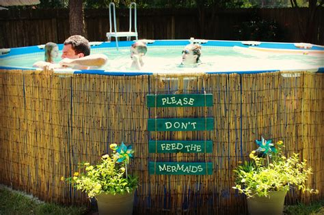Deck Around Intex Pool by Crafty In Crosby Don T Feed The Mermaids Above Ground