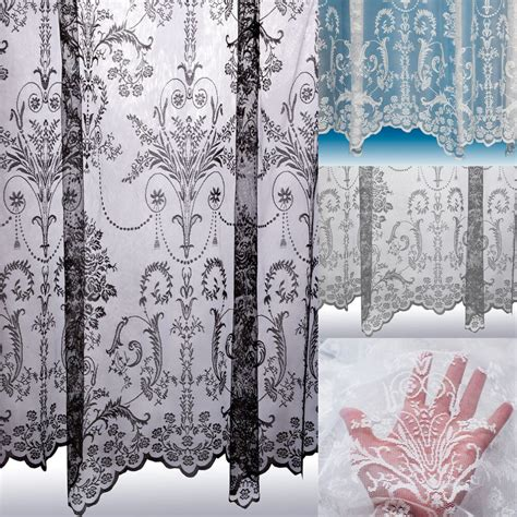 lace draperies lace curtain boutique damask design sold by