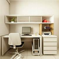 small office design ideas Wonderful Small Home Office Design With White Desk ...