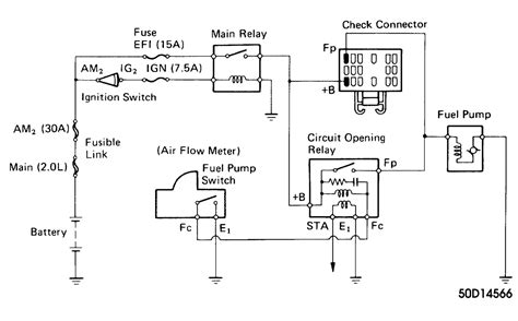 Toyota Pickup Fuel Pump Relay