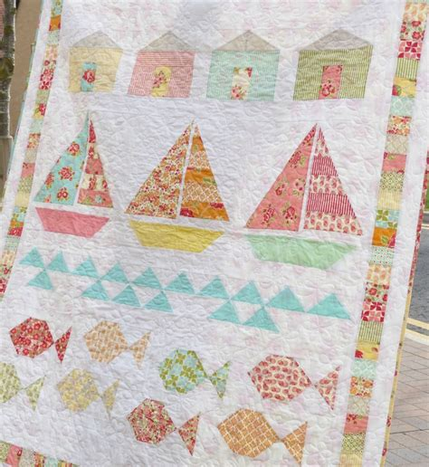 Summer Beach Quilt Is So Charming  Quilting Digest