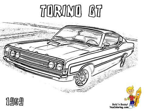 macho muscle car printables  muscle car coloring