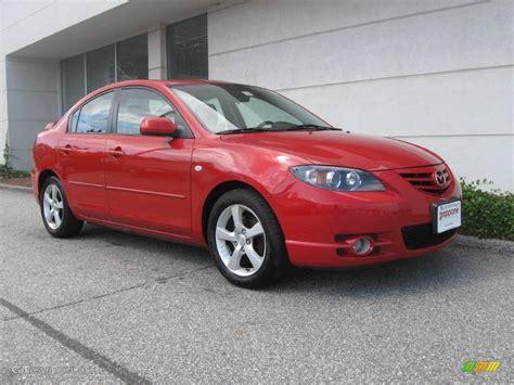 2005 Velocity Red Mica Mazda Mazda3 S Sedan #18231578