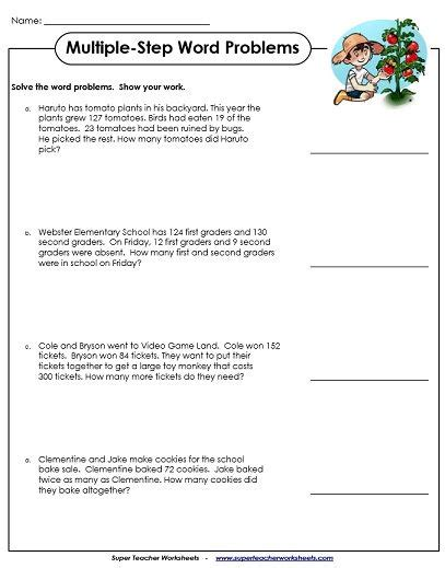 word problem worksheets multiplication word problems