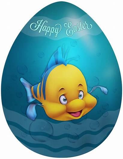 Easter Clip Egg Flounder Clipart Happy Yopriceville