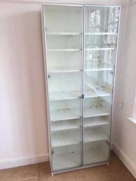 Ikea Bookcase Glass Doors by Lovely Ikea Billy White Bookcase Frosted Glass Doors