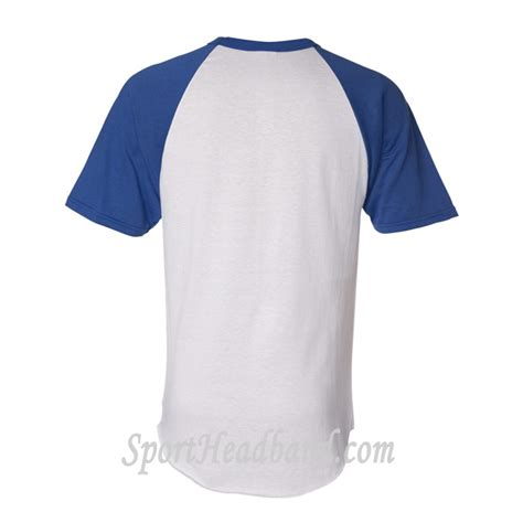 striped trim sleeve t shirt white shirt with blue sleeves artee shirt
