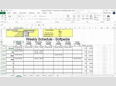 Work Schedule Maker Excel printable calendar templates