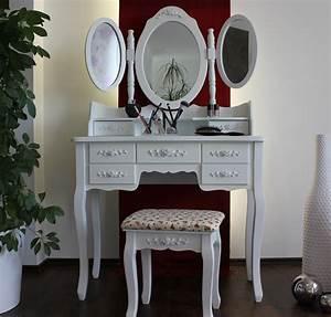 Schminktisch Weiß Modern : xxl schminktisch inkl hocker spiegel frisiertisch kosmetiktisch landhaus weiss ebay ~ Frokenaadalensverden.com Haus und Dekorationen