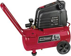 tool shop 174 6 gallon horizontal air compressor at menards 174