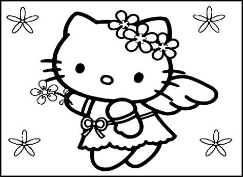 kitty printable coloring pages