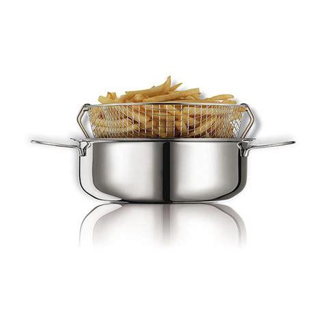 friteuse et cuisine friteuse traditionnelle en inox avec panier 26 cm friteuses et poêles à friture matériel de