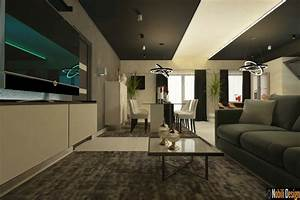 Concept, De, Design, D, U0026, 39, Int, U00e9rieur, Pour, Un, Appartement, Moderne