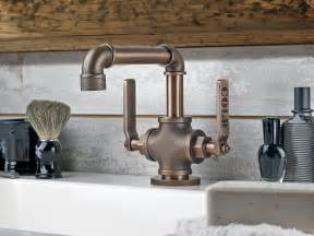 wall mount pot filler kitchen faucet industrial style faucets by watermark to give your plumbing the cool look you always wanted