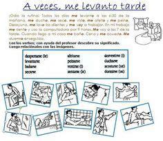 spanish daily routine unit images spanish