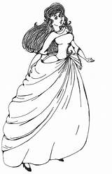 Coloring Pages Ball Fancy Gown Dresses Colouring Printable Aramina Dragon Prom Getcolorings Getdrawings sketch template