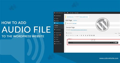How To Add Audio Clips Or Mp3 Files In Wordpress Domain