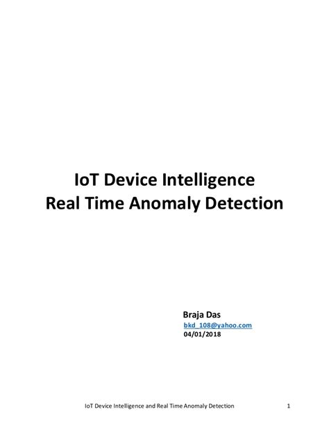 IoT Device Intelligence & Real Time Anomaly Detection