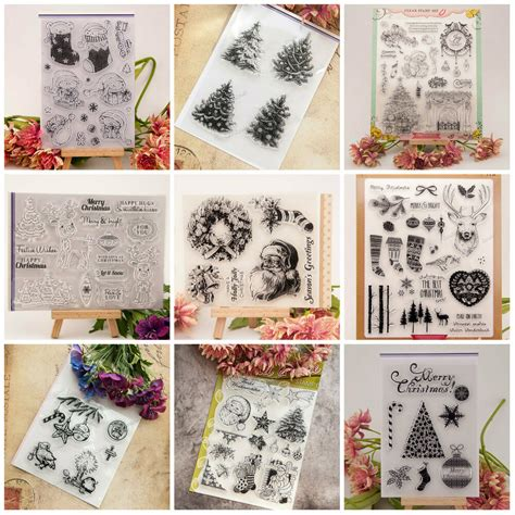 diy scrapbooking transparent clear rubber stamps silicone