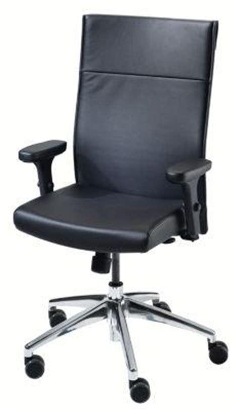 siege dauphin dauphin siège de bureau pivotant habillage cuir noir