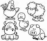 Coloring Farm Baby Pages Printable Animals Animal Cute Sheet sketch template