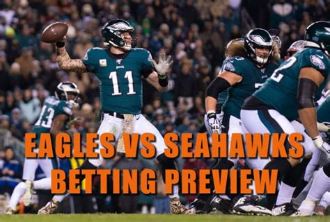 eagles  seahawks betting prediction odds  picks