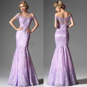 mermaid off shoulder short sleeves appliques custom floor With lavender dress for wedding