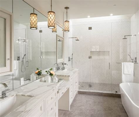 glass tile bathroom ideas 15 bathroom pendant lighting design ideas designing idea