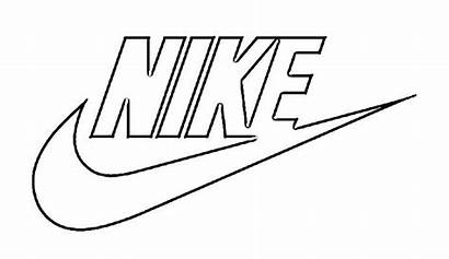Nike Drawing Sketch Coloring Logos Pages Draw