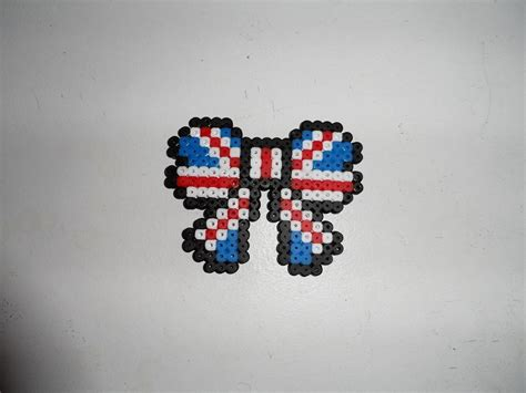 union flag hama bead bow     pegboard bead