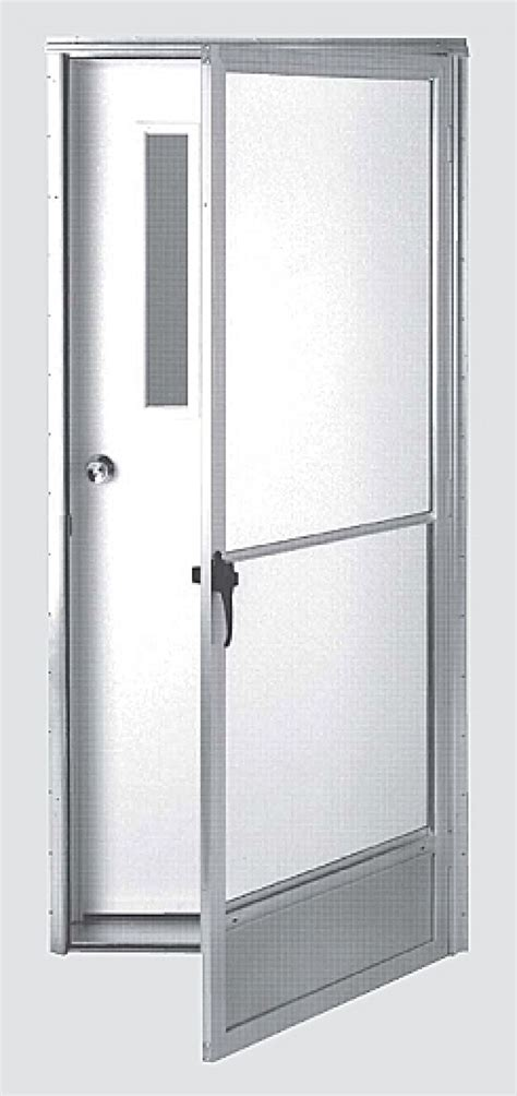 mobile home doors exterior with clear glass retractable