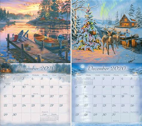 legacy cabin view wall calendar lang store