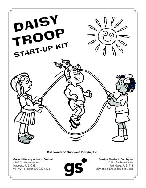 Daisy Girl Scouts Coloring Pages Free Coloring Home