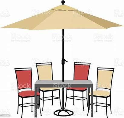 Patio Furniture Clip Clipart Icon Umbrella Terraza