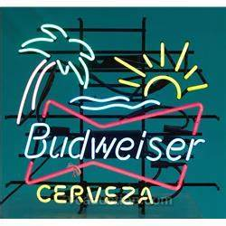 Budweiser Neon Sign Palm Tree And Sun N O S