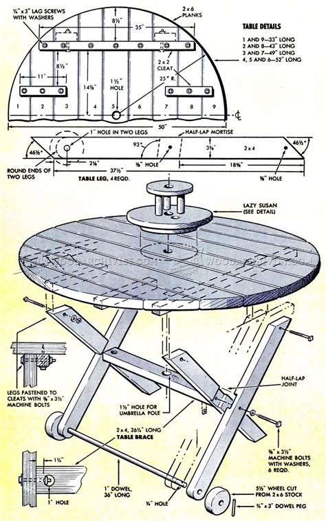 picnic table plans woodarchivist