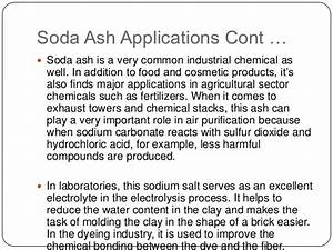 Major industrial applications of sodium carbonate