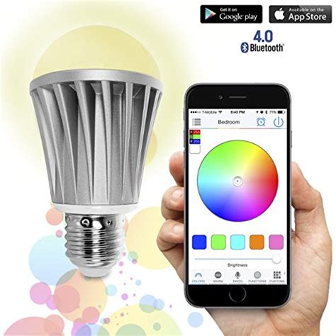 lights with smartphone flux bluetooth smart led light bulb smartphone controlled dimmable multicolored color changing