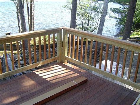 wood porch railing wood deck railing designs diy jbeedesigns outdoor the