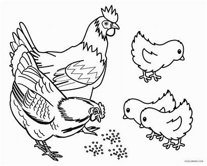 Coloring Farm Pages Animals Animal Printable