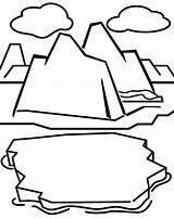 Coloring Iceberg Sheets Through Template Polaires Animaux Ship Passing Ice Scooby Doo Templates sketch template