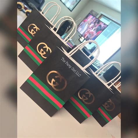 gucci party favor bags perfect   gucci themed
