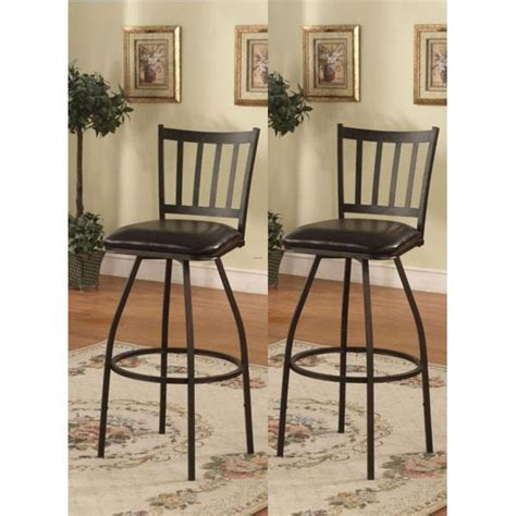 Counter Height Chairs Cheap by Black Finish Vertical Design Adjustable Metal Swivel