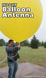 Balloons for amateur radio antenna