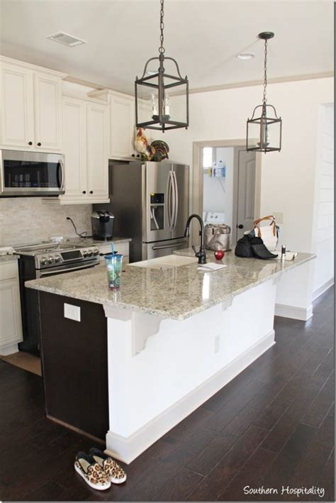 kitchen island with corbels ruby moved in the lake cottage southern hospitality
