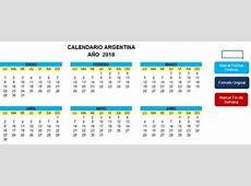 Calendario Argentina 2018 « Excel Avanzado