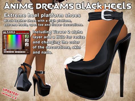 Anime Dreams Black Heels